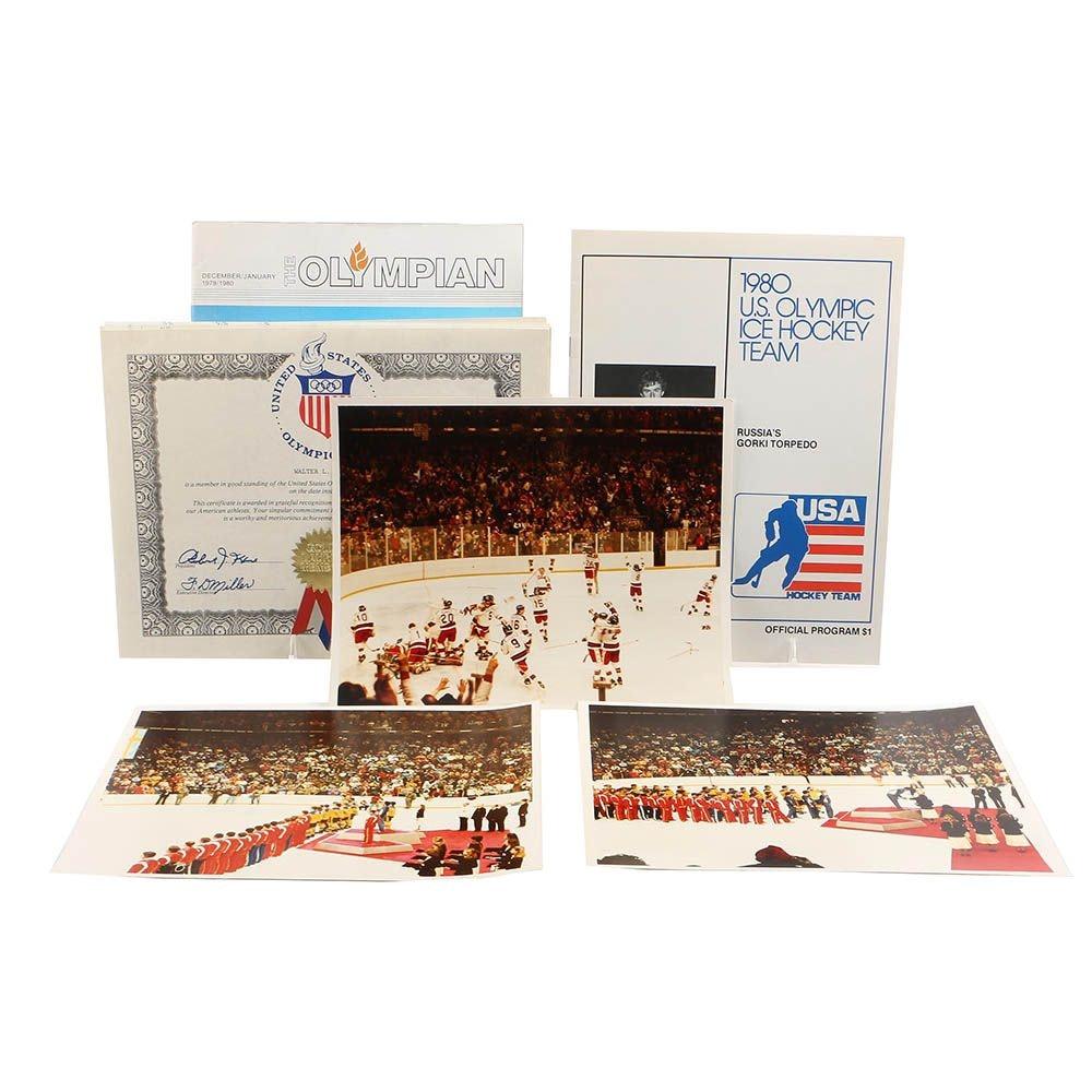 1980 Lake Placid Olympic Hockey Photos, Programs and More
