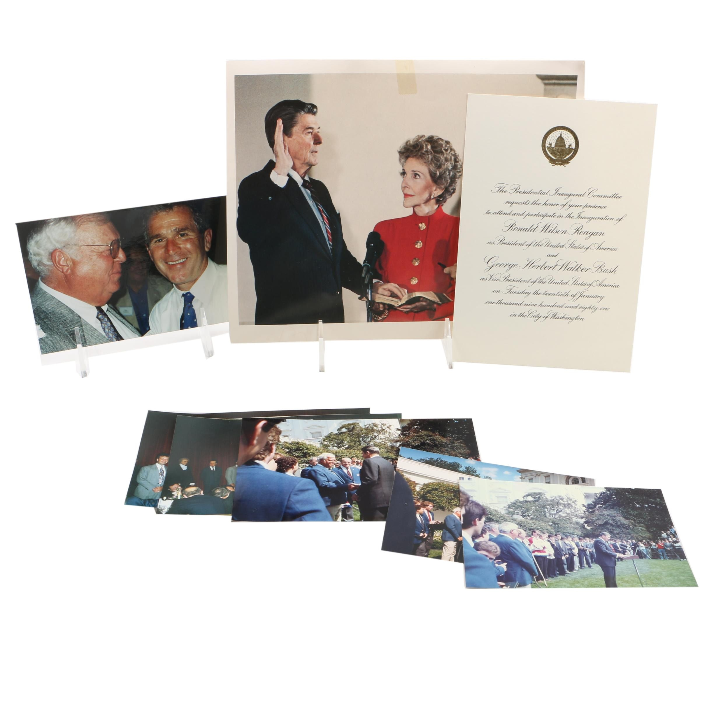 Color Photo Prints of Walter Bush with US Presidents