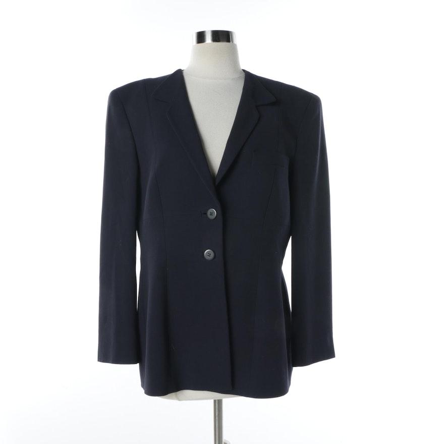 8883b70a5179 Women's Giorgio Armani Navy Wool Jacket | EBTH