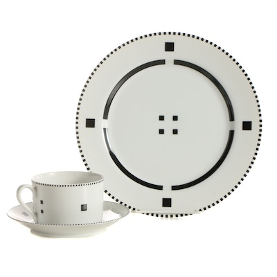 "Charles Gwathmey and Robert Siegel ""Tuxedo"" Bone China Dinnerware"