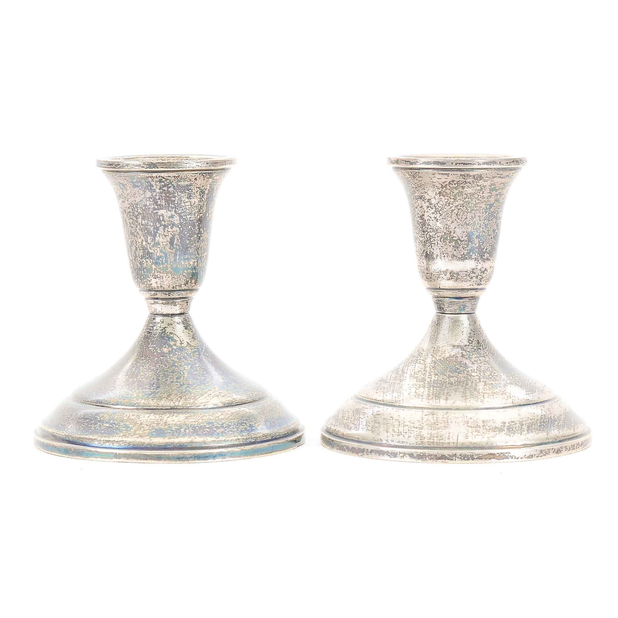 Pair of Towle Sterling Silver Candlesticks