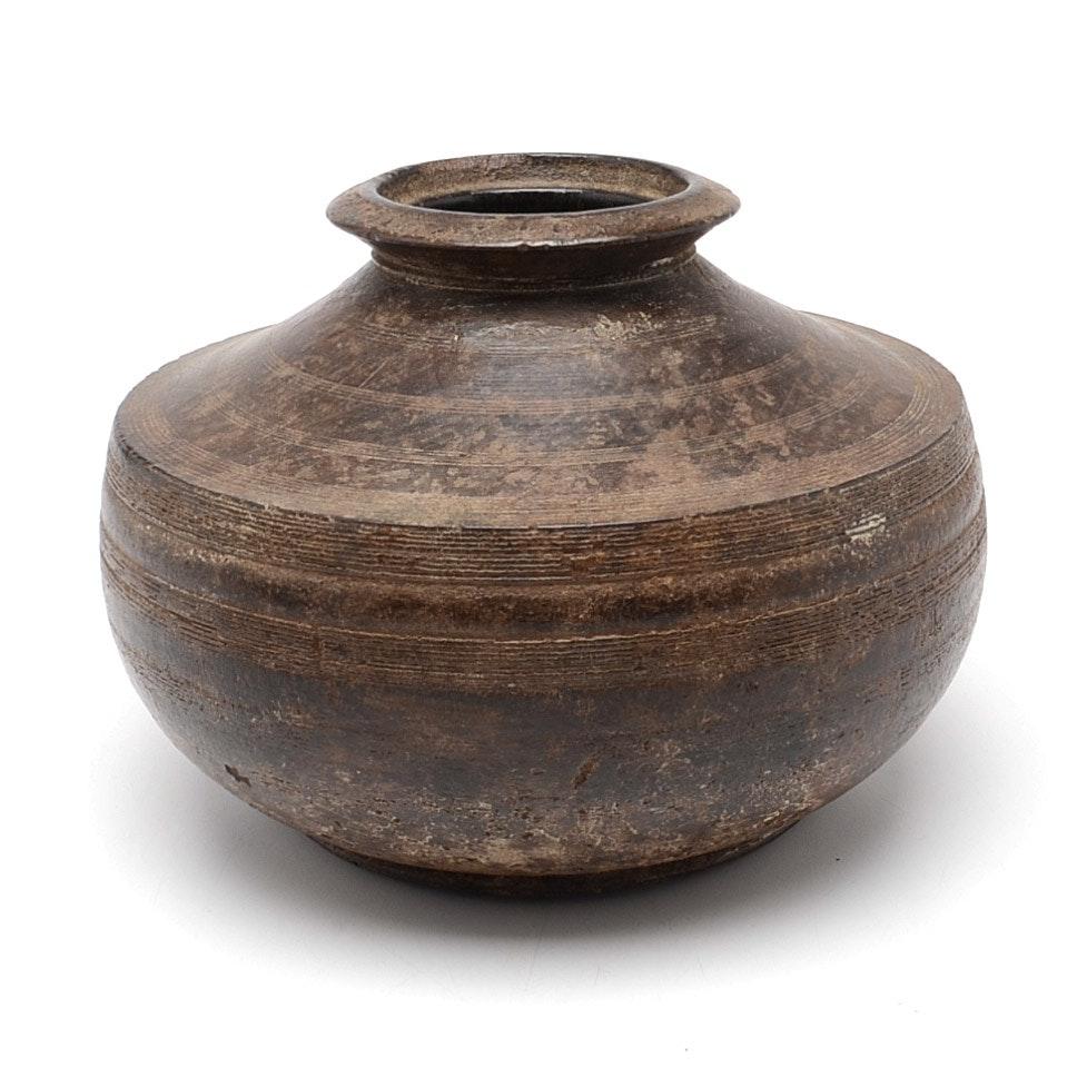 Antique Turned Wood Vessel