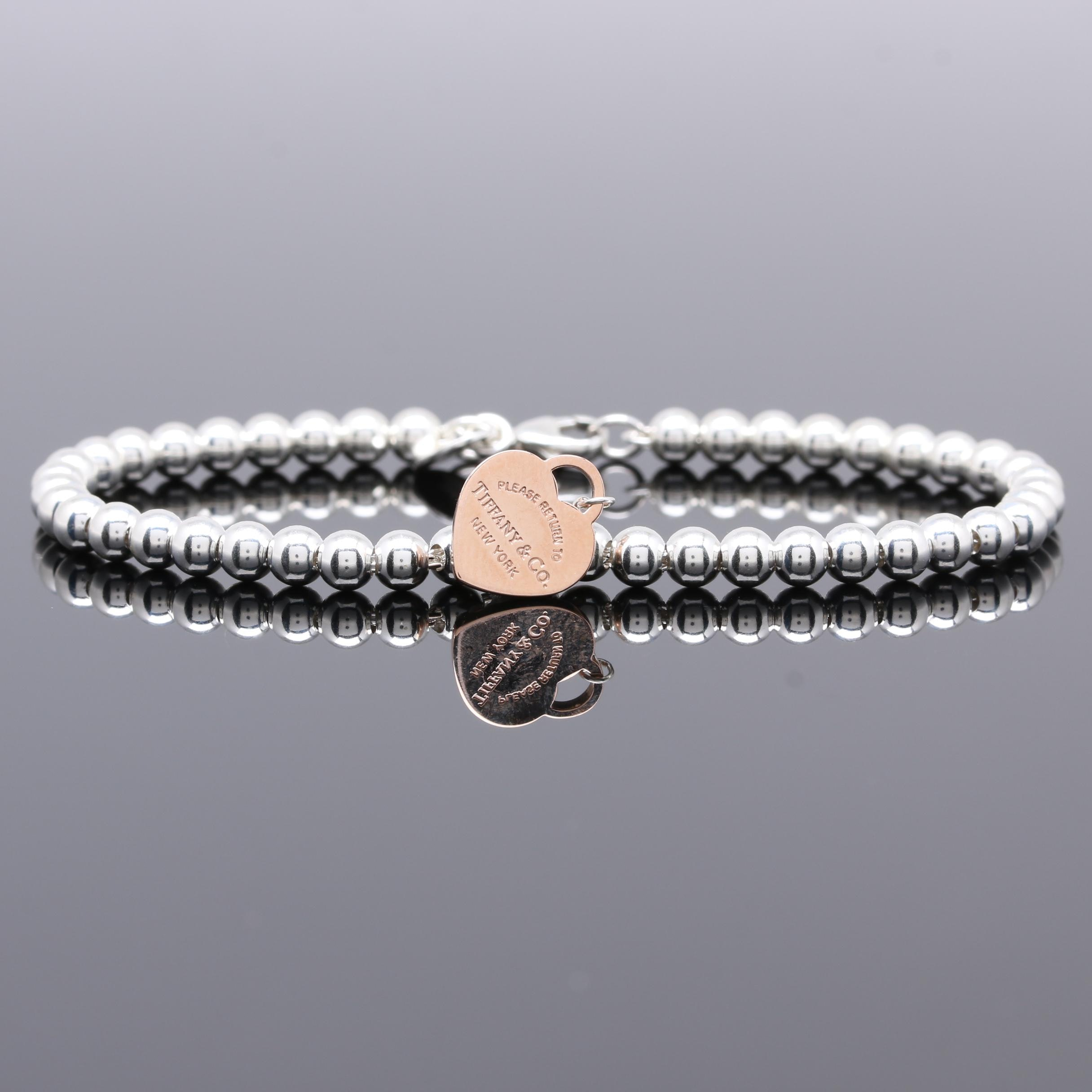 "Tiffany & Co. ""Return to Tiffany"" Sterling Silver and Rubedo® Bracelet"