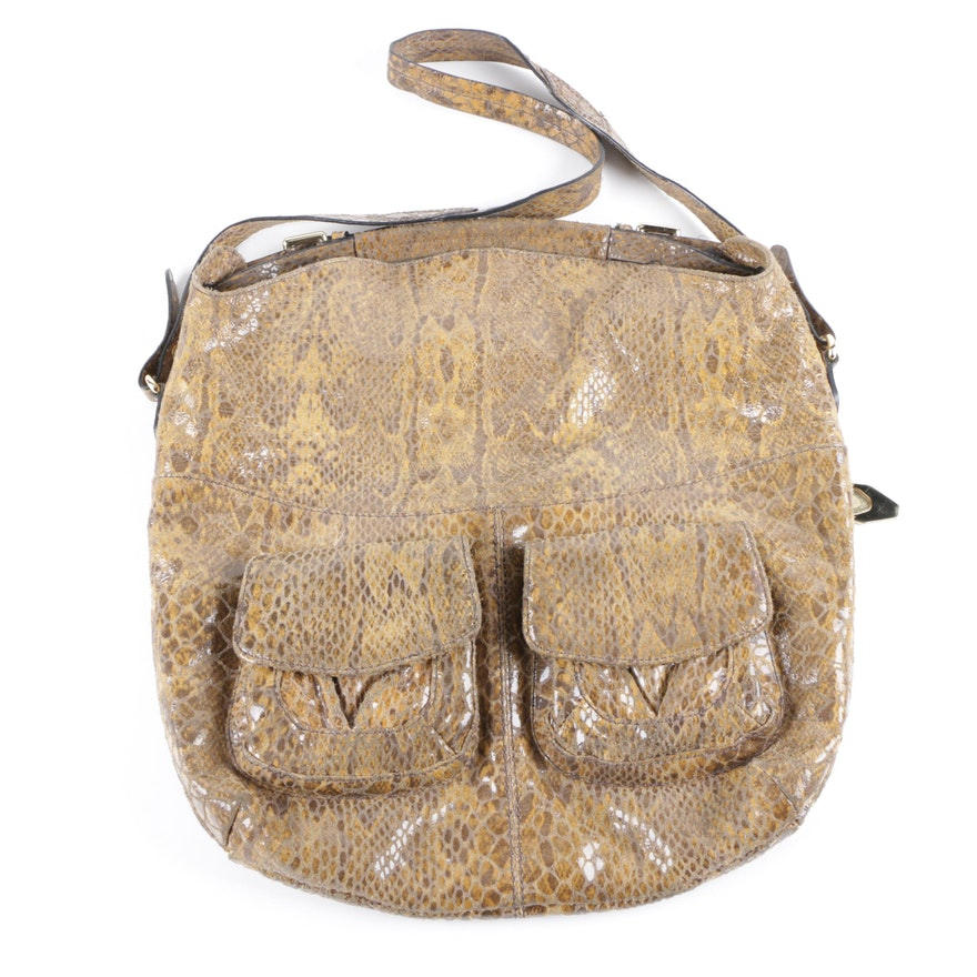 Or By Oryany Faux Snakeskin Handbag