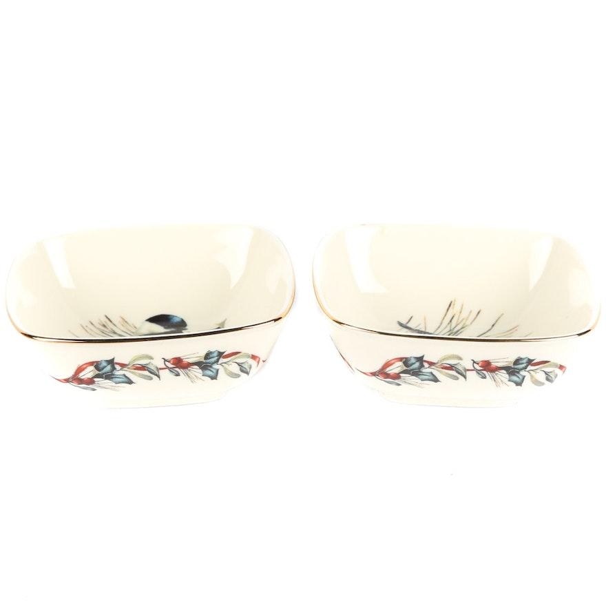 Lenox winter greetings dipping bowls ebth lenox winter greetings dipping bowls m4hsunfo