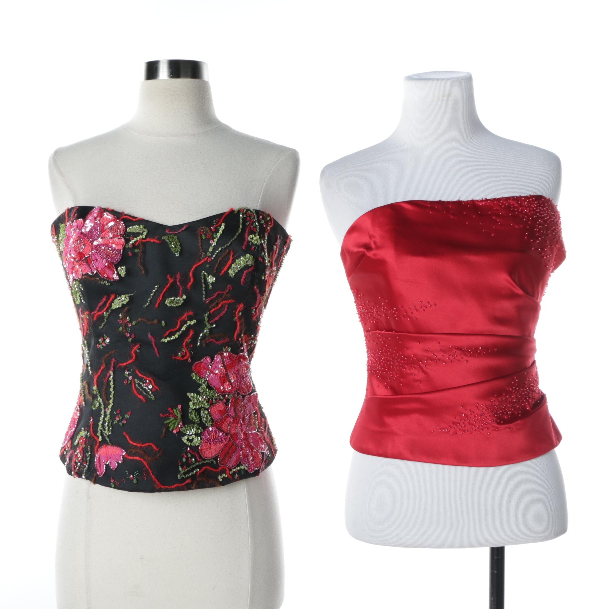 Embellished Corset Tops Including Armani and Kay Unger