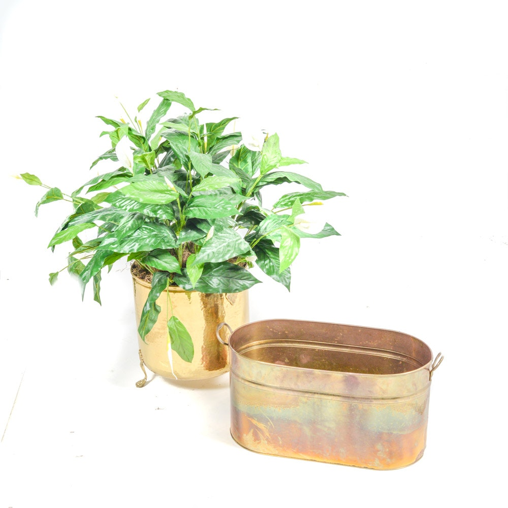 Brass Planter and Tub