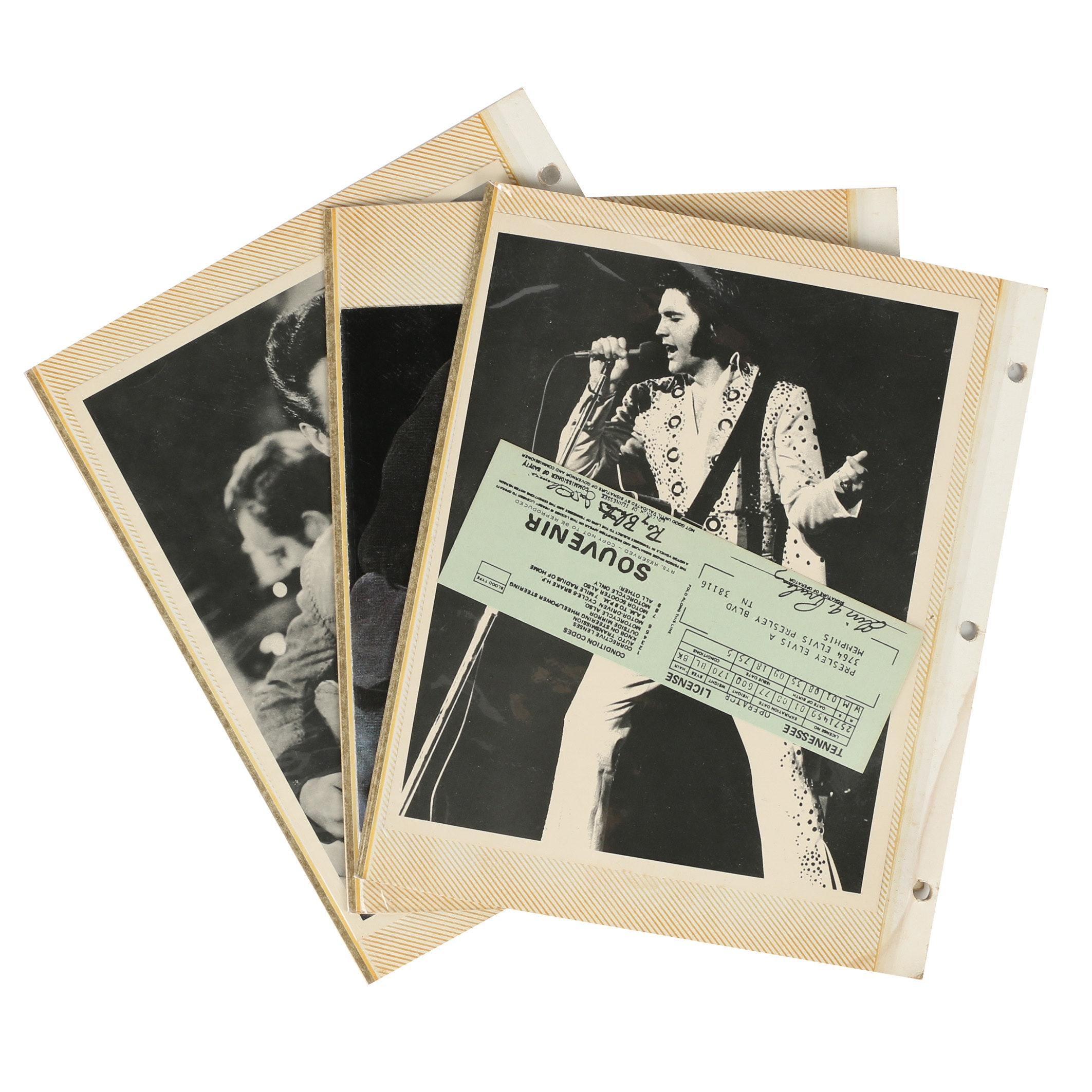 Elvis Presley Photographs and Ephemera