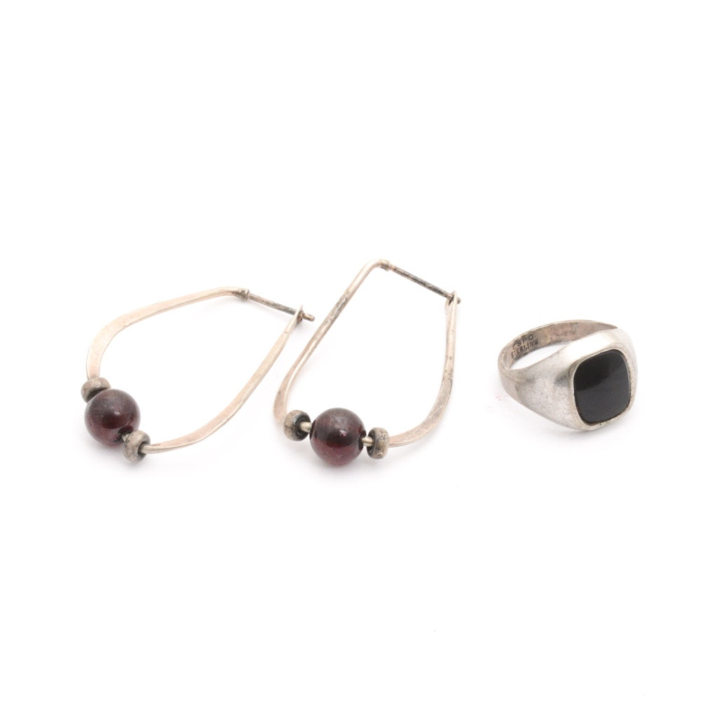 Sterling Silver and Onyx Jewelry