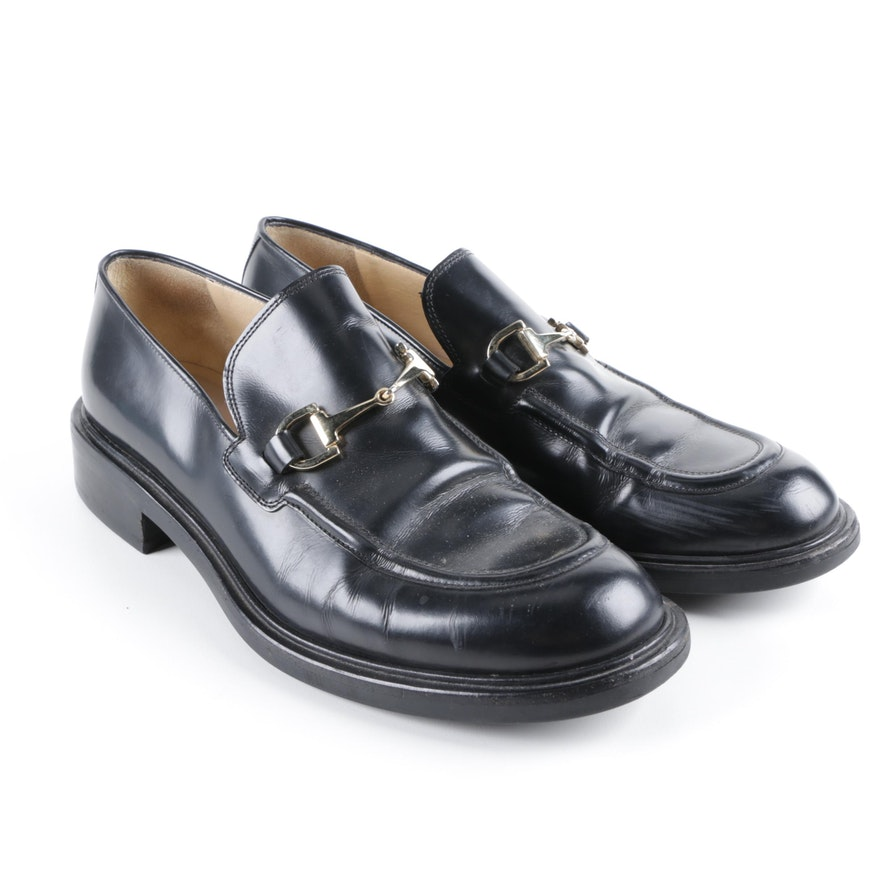 8eb16551006 Women s Gucci Black Leather Loafers   EBTH