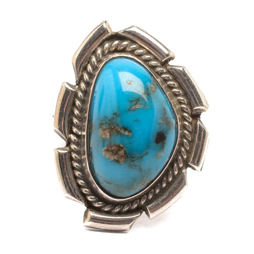 Henry Yazzie Navajo Diné Sterling Silver Turquoise Ring