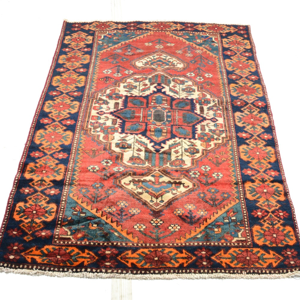 Antique Hand-Knotted Persian Malayar Rug
