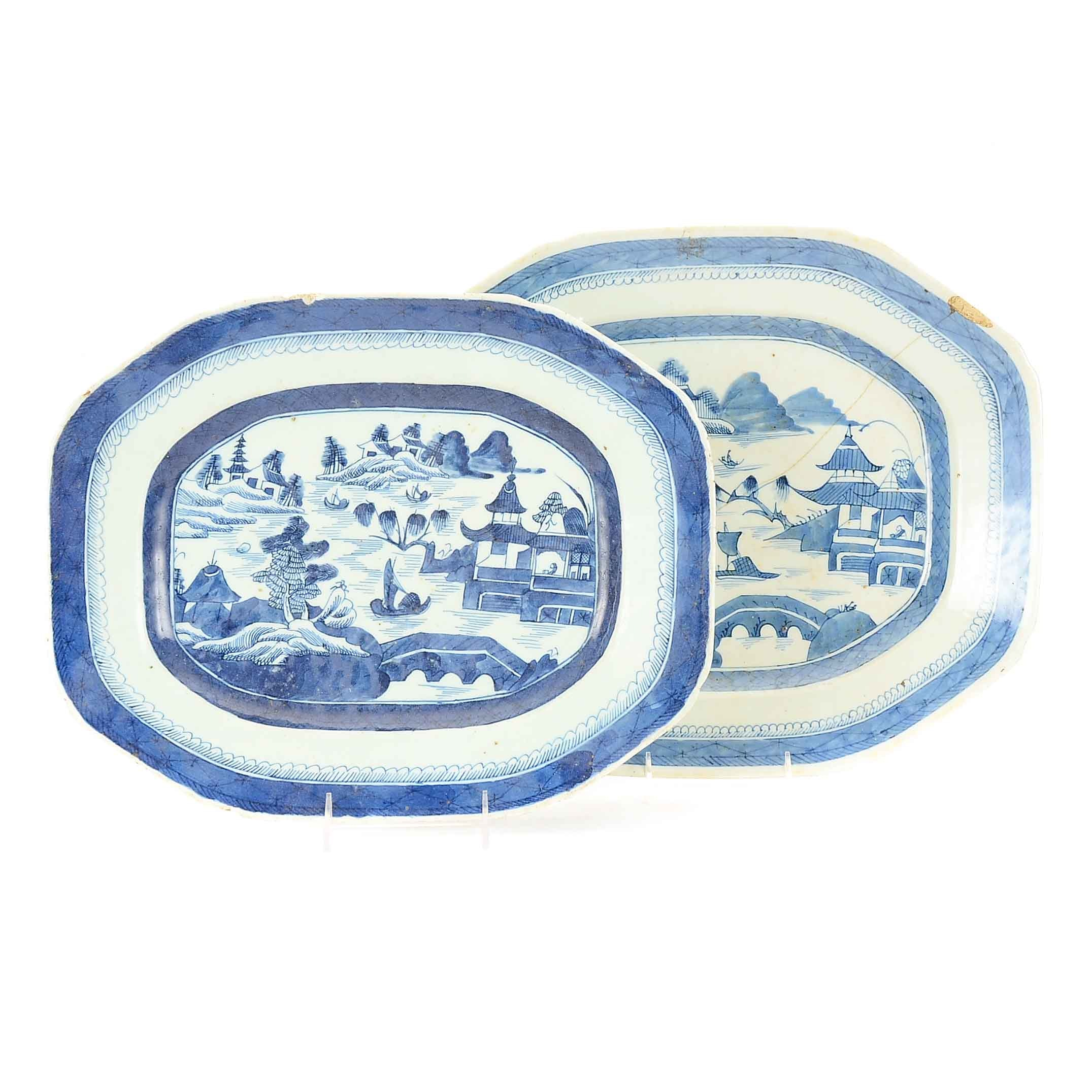 Antique Hand-Painted Chinese Platters