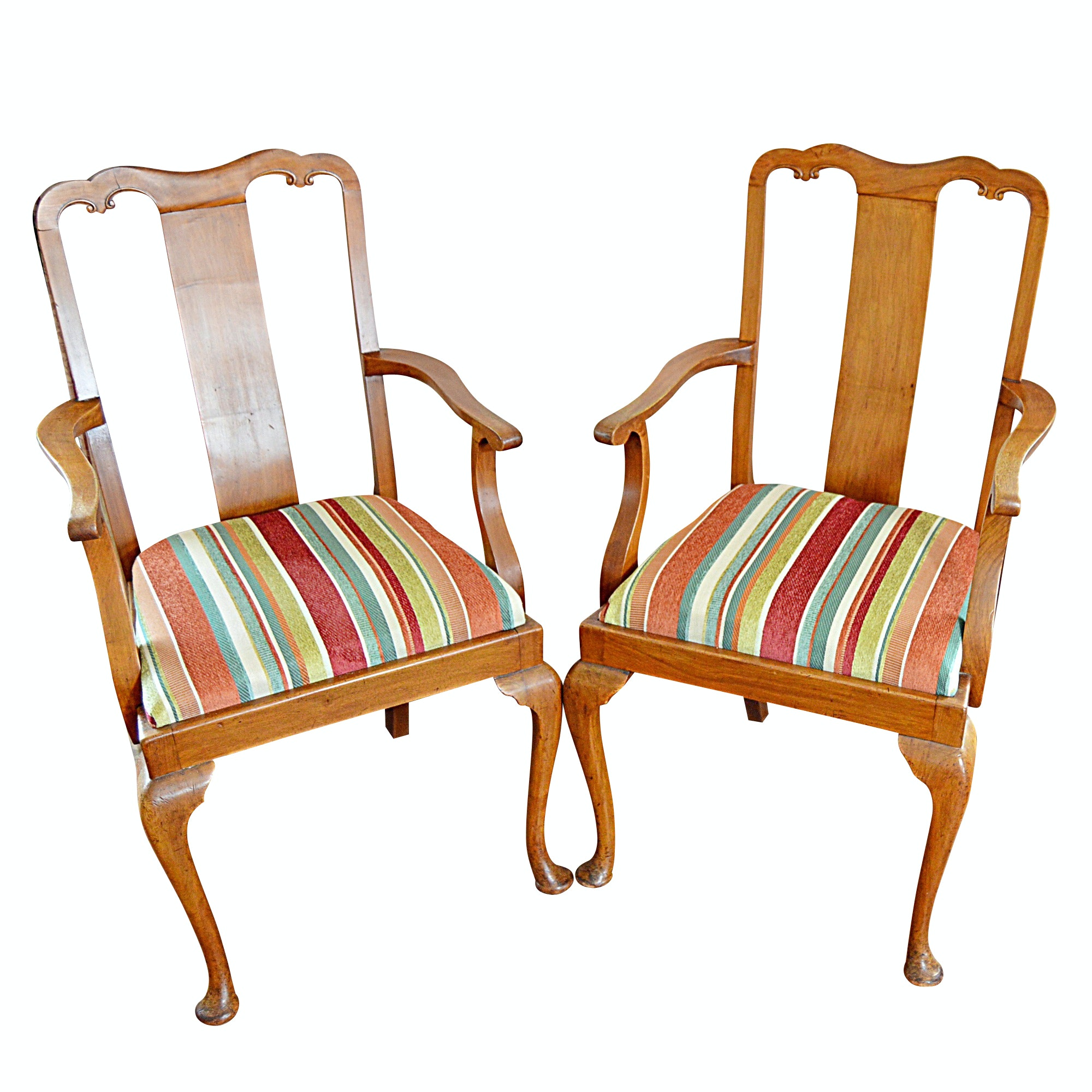 Pair of Antique Chippendale Style Chairs