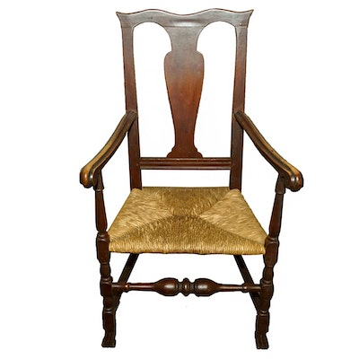 Antique Queen Anne Style Chair - Vintage Chairs, Antique Chairs And Retro Chairs Auction In Art