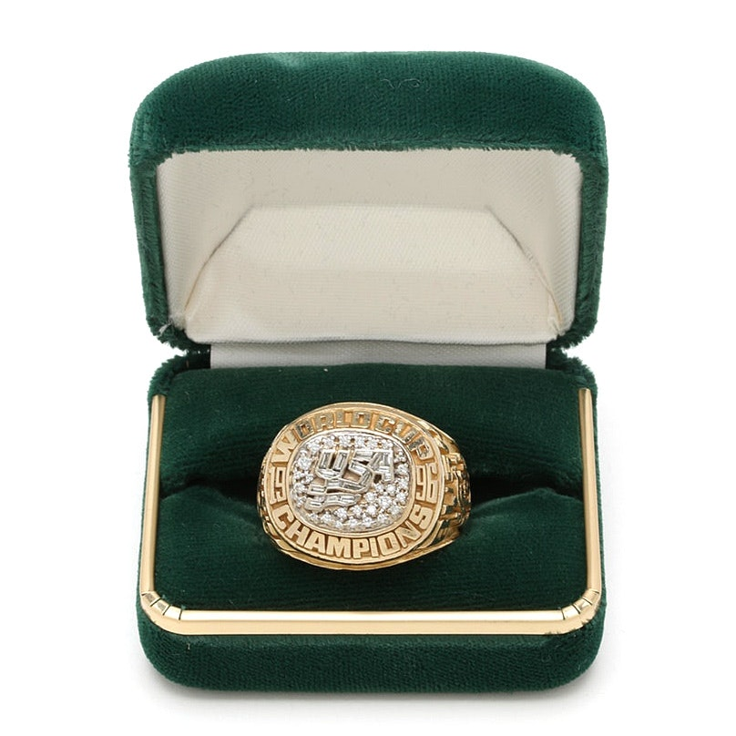 1996 World Cup of Hockey Championship 14K Yellow Gold Diamond Ring
