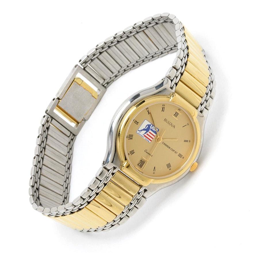 1987 Canada Cup USA Hockey Team Bulova Quartz Wristwatch