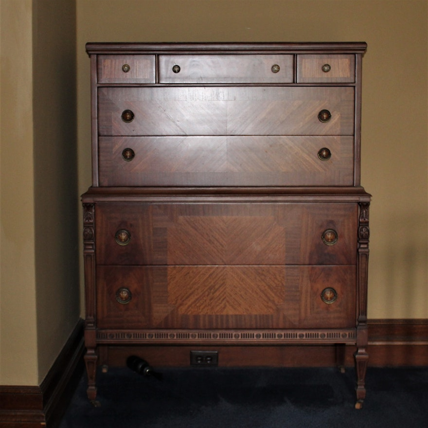 Antique Tell City Furniture Chest