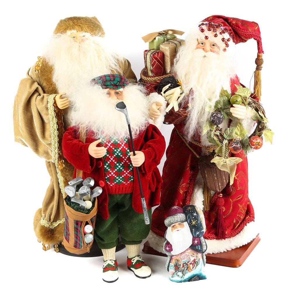 Holiday Santa Figurines