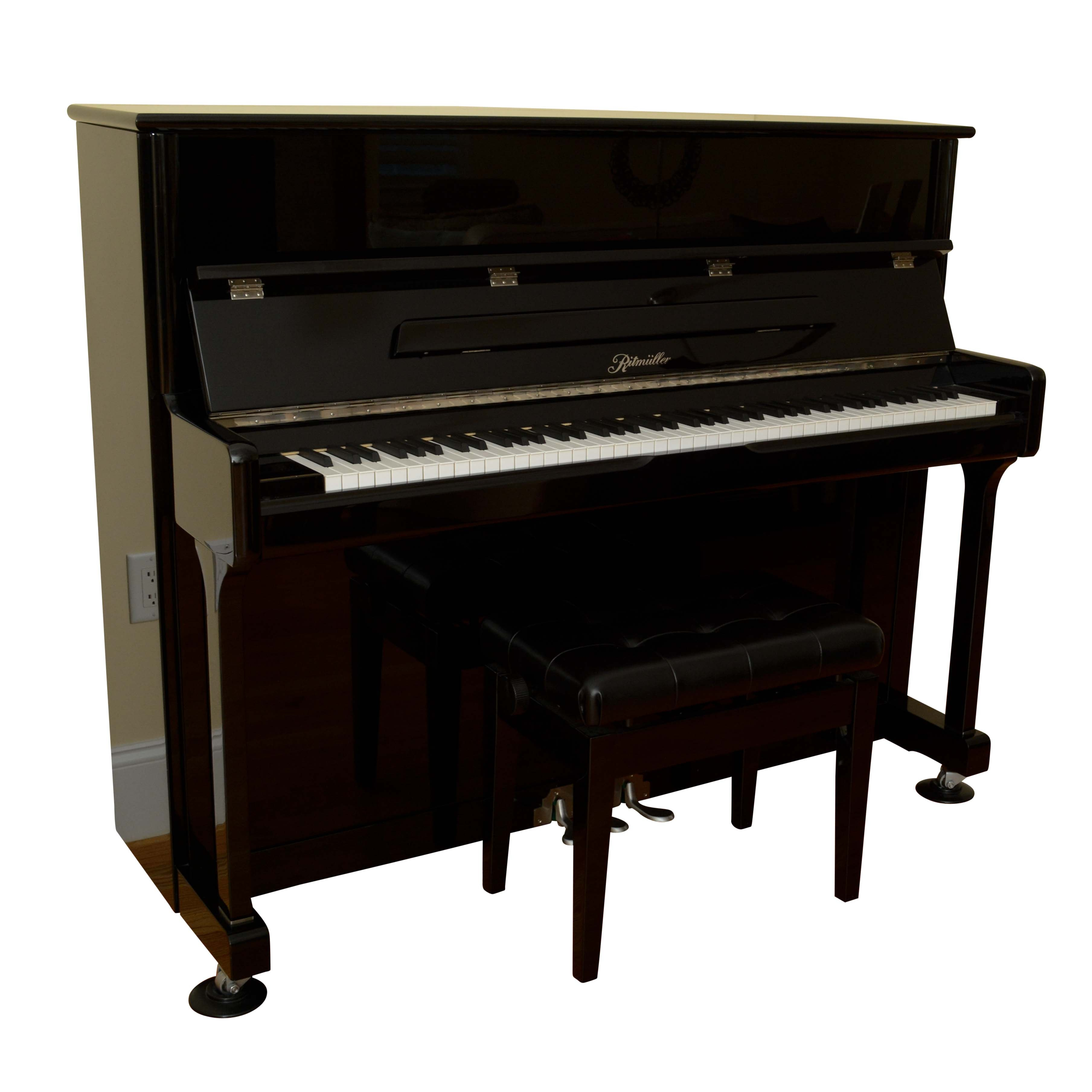 Ritmüller Studio Upright Piano with Adjustable Bench