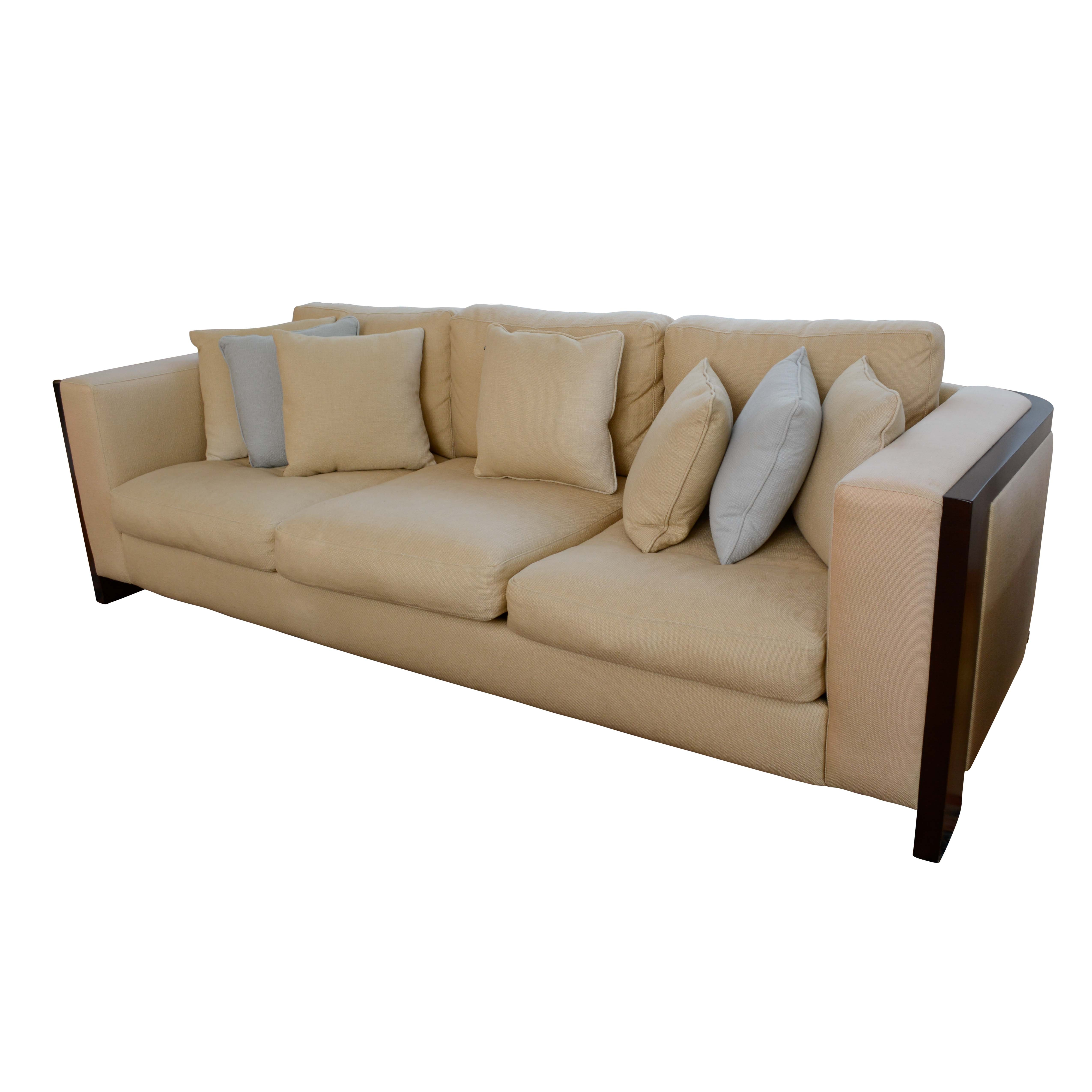 """American Leather Contemporary """"Chandler"""" Upholstered Sofa"""