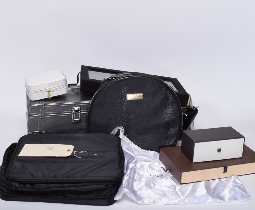 Makeup and Jewelry Cases with Louis Vuitton Dust Cover
