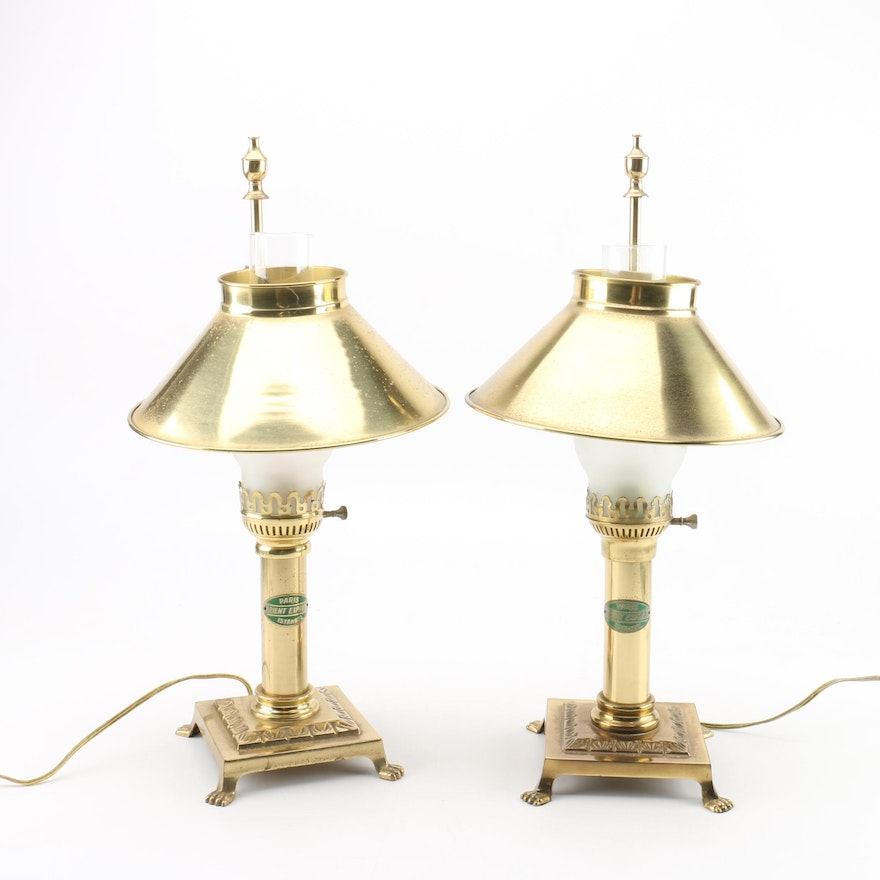 Paris orient express istanbul brass hurricane table lamps ebth paris orient express istanbul brass hurricane table lamps aloadofball Gallery