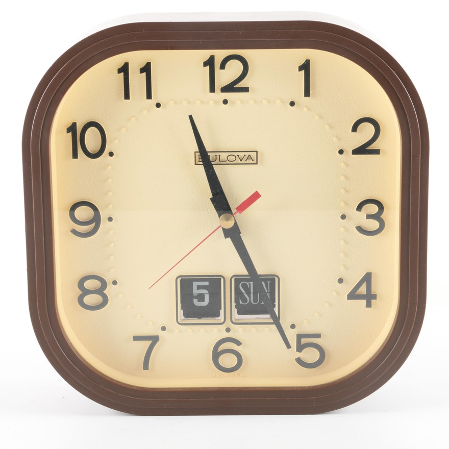 Bulova Wall Clock With Calendar Ebth