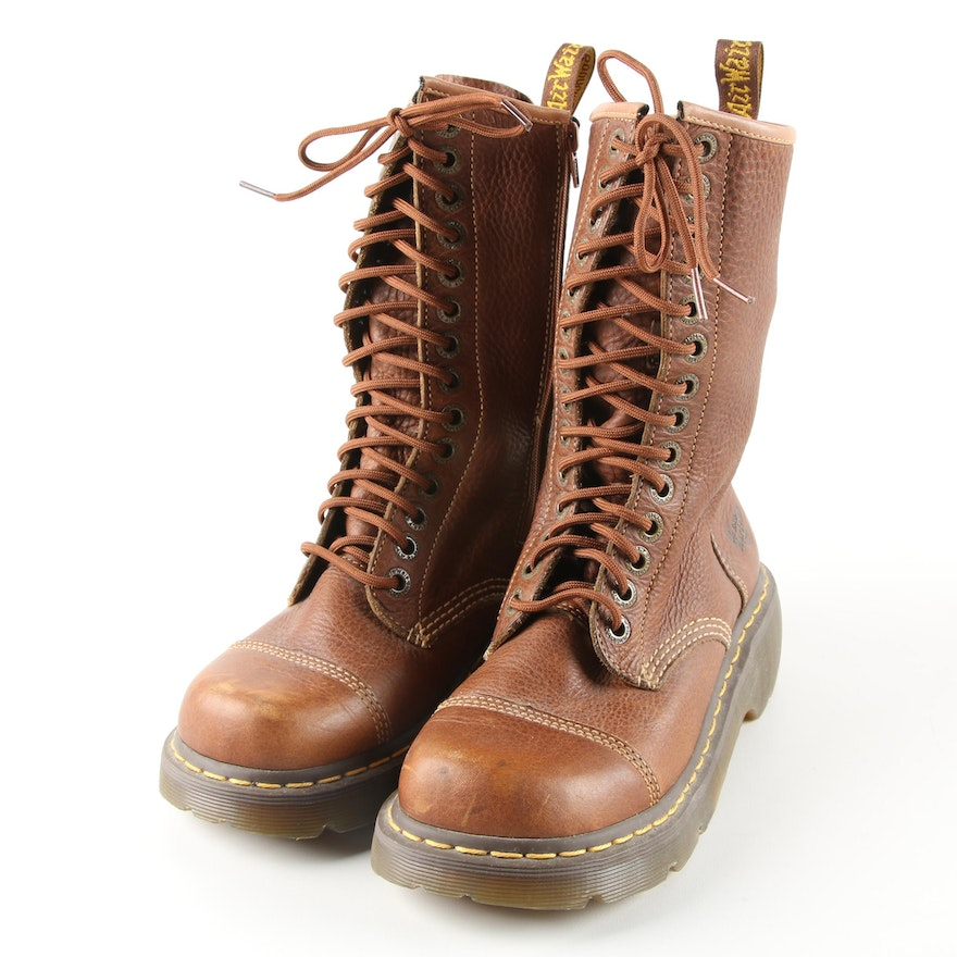 71791966054 Women s Dr. Martens Brown Leather Boots   EBTH