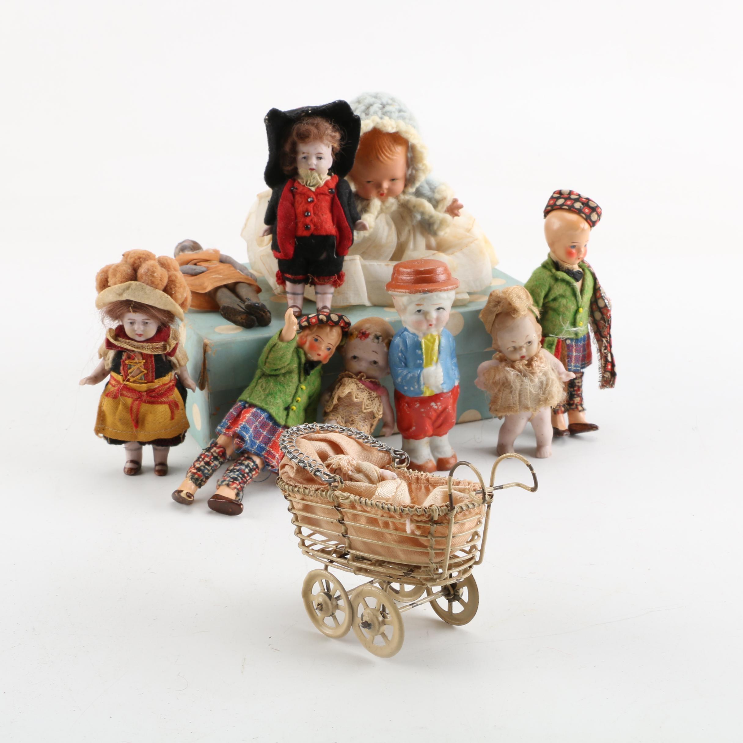 """Nancy Ann """"Little Miss Pattycake"""" Doll with Vintage Dolls"""