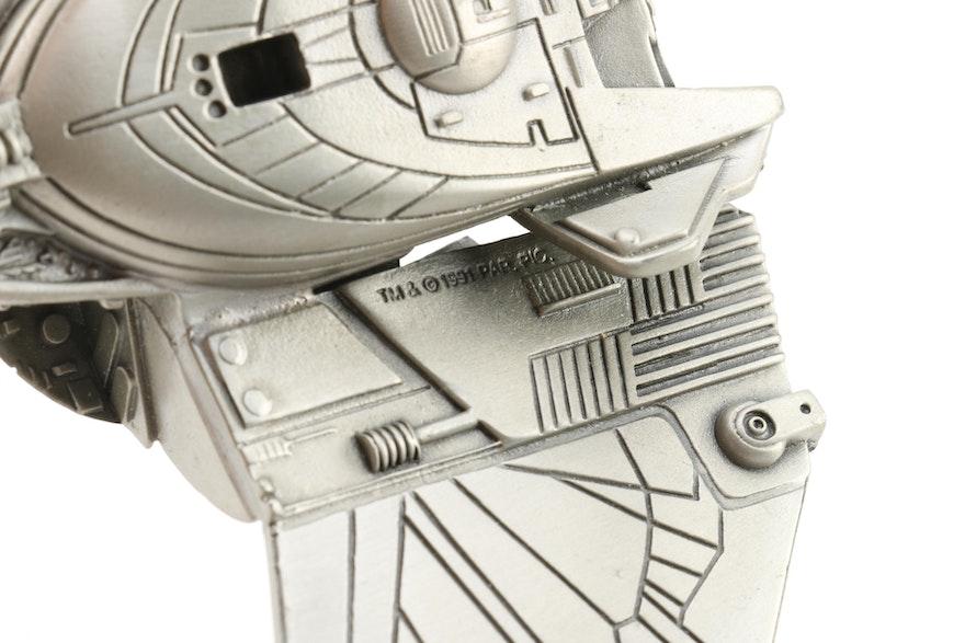 Franklin Mint Star Trek Klingon D7 Battle Cruiser PEWTER
