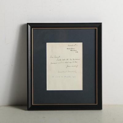 1911 Winston Churchill Signed Correspondence as Home Secretary