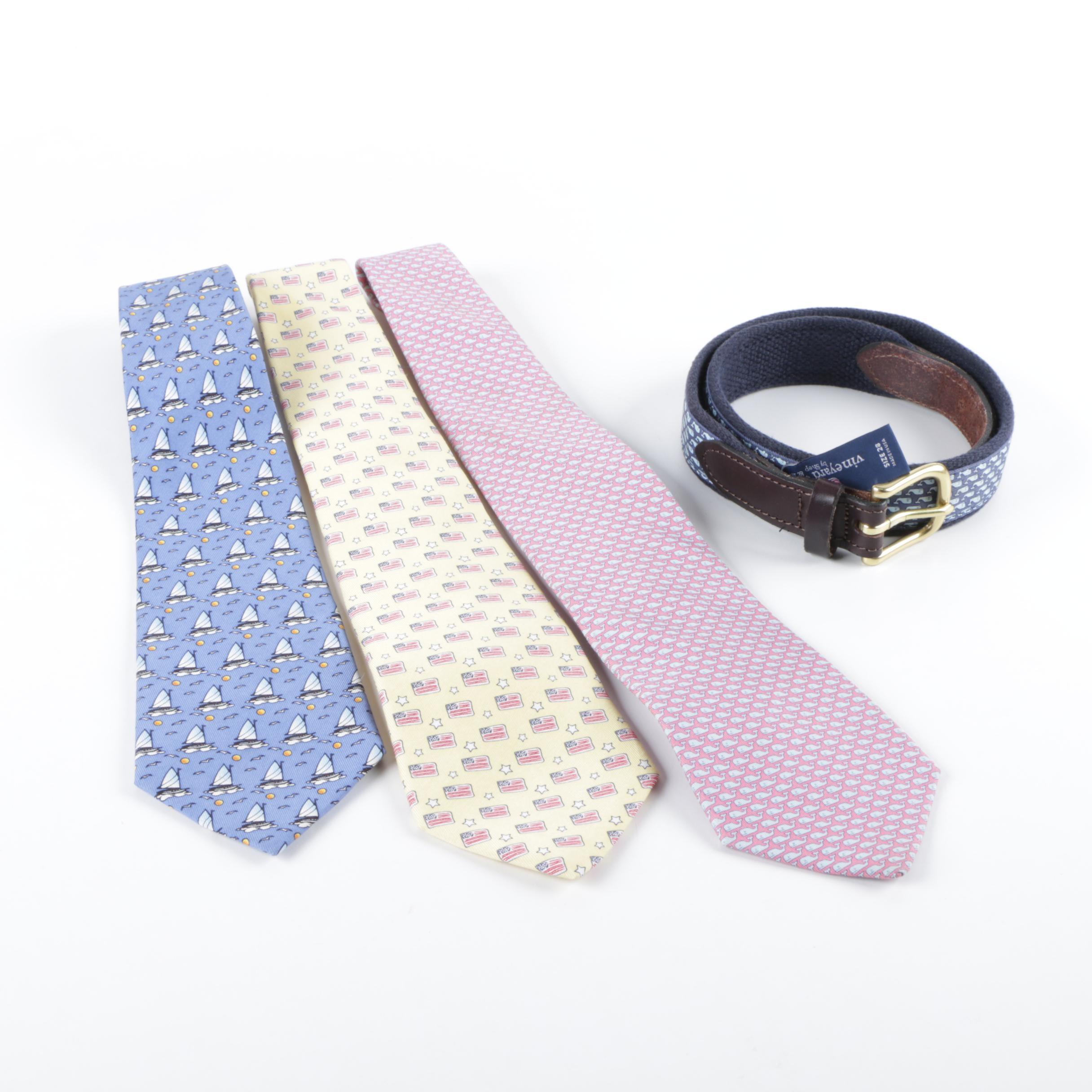 Boys' Vineyard Vines Silk Neckties and Belt