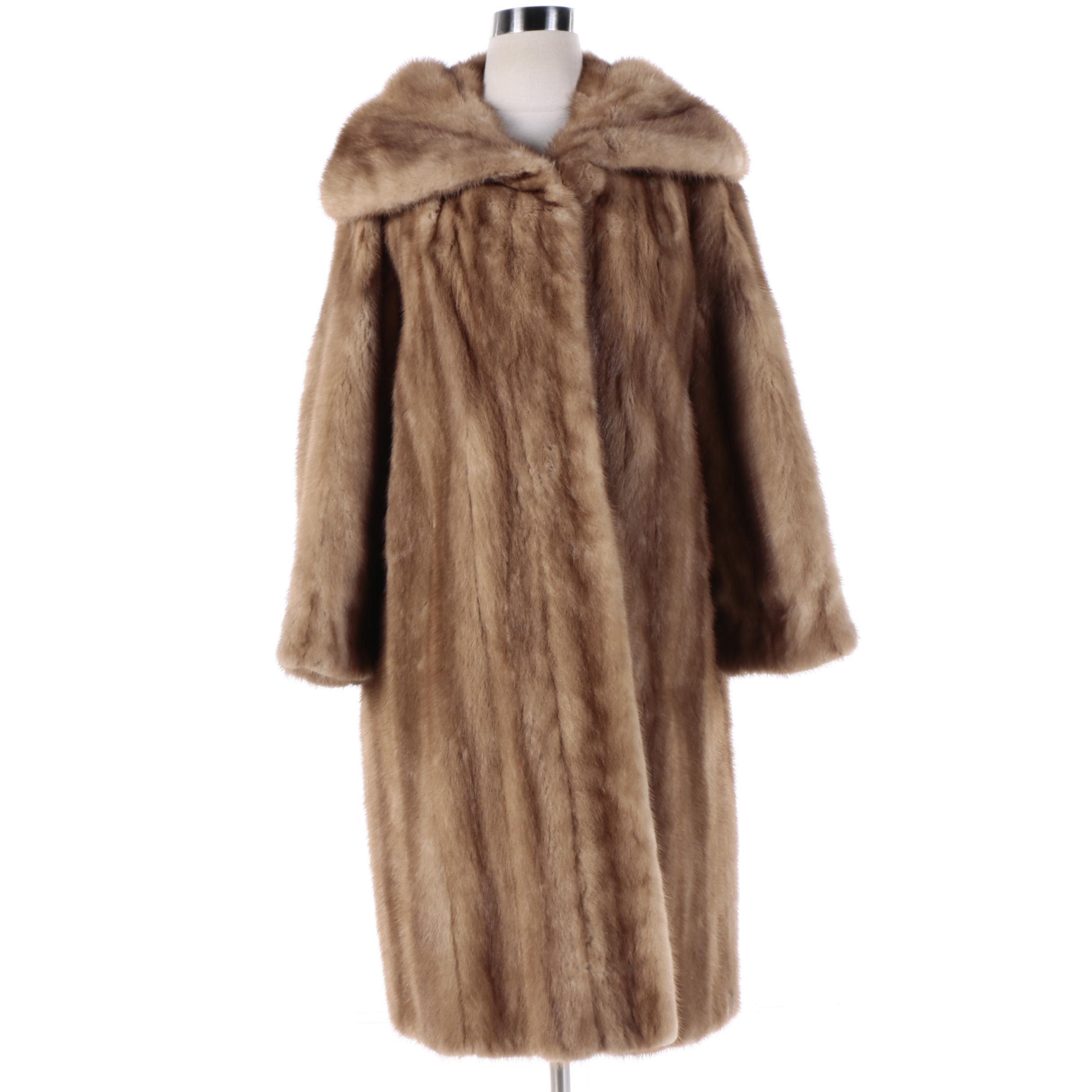 Women's Vintage Full-Length Mink Fur Coat