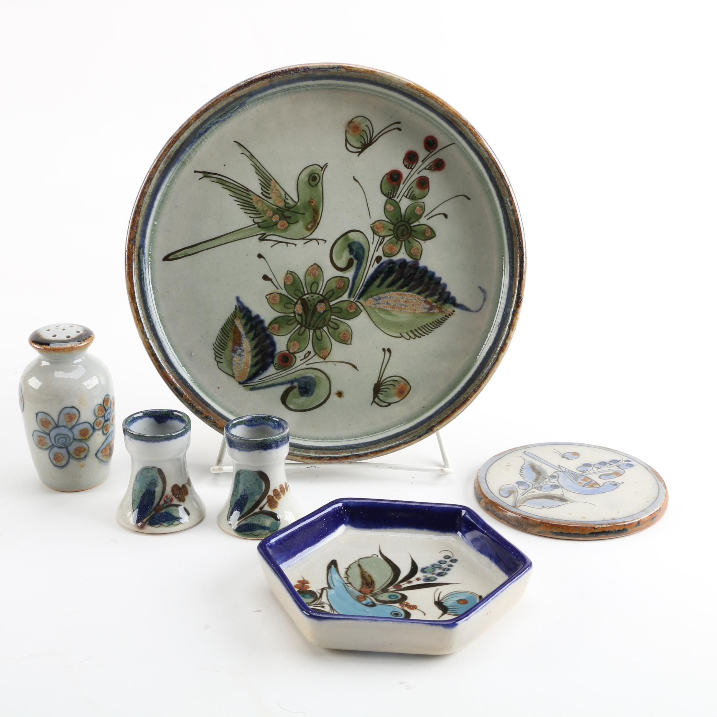 sc 1 st  EBTH.com & Ken Edwards Mexican Pottery Tableware with Bird and Botanical Theme ...