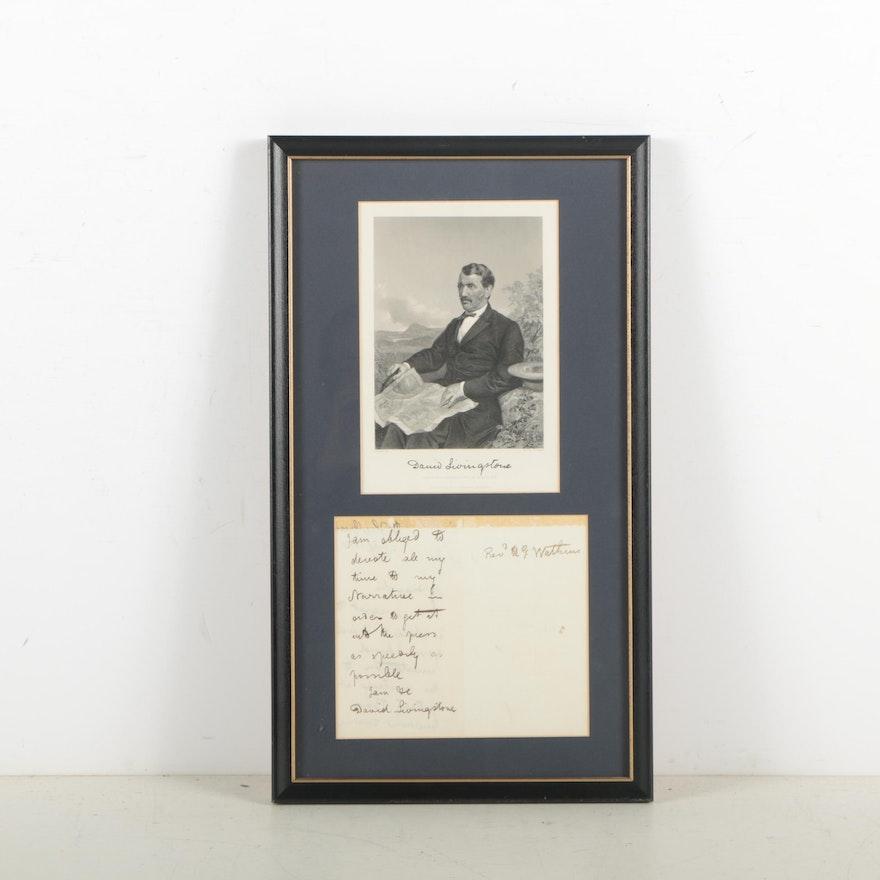 David Livingstone Autograph Letter Signed to Reverend Watkins