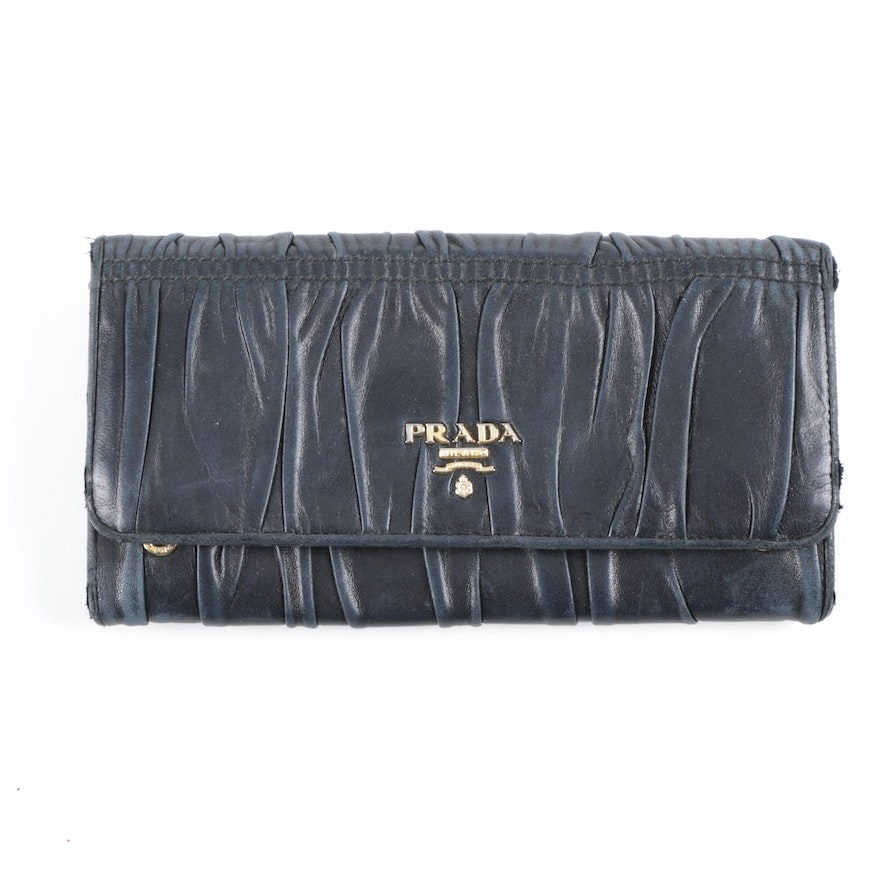 3748669354d88c Prada Gathered Leather Wallet : EBTH