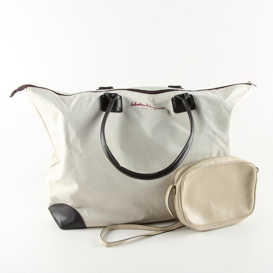 Salvatore Ferragamo Parfums Weekender Bag and Boutique Crossbody   EBTH 417affedfb