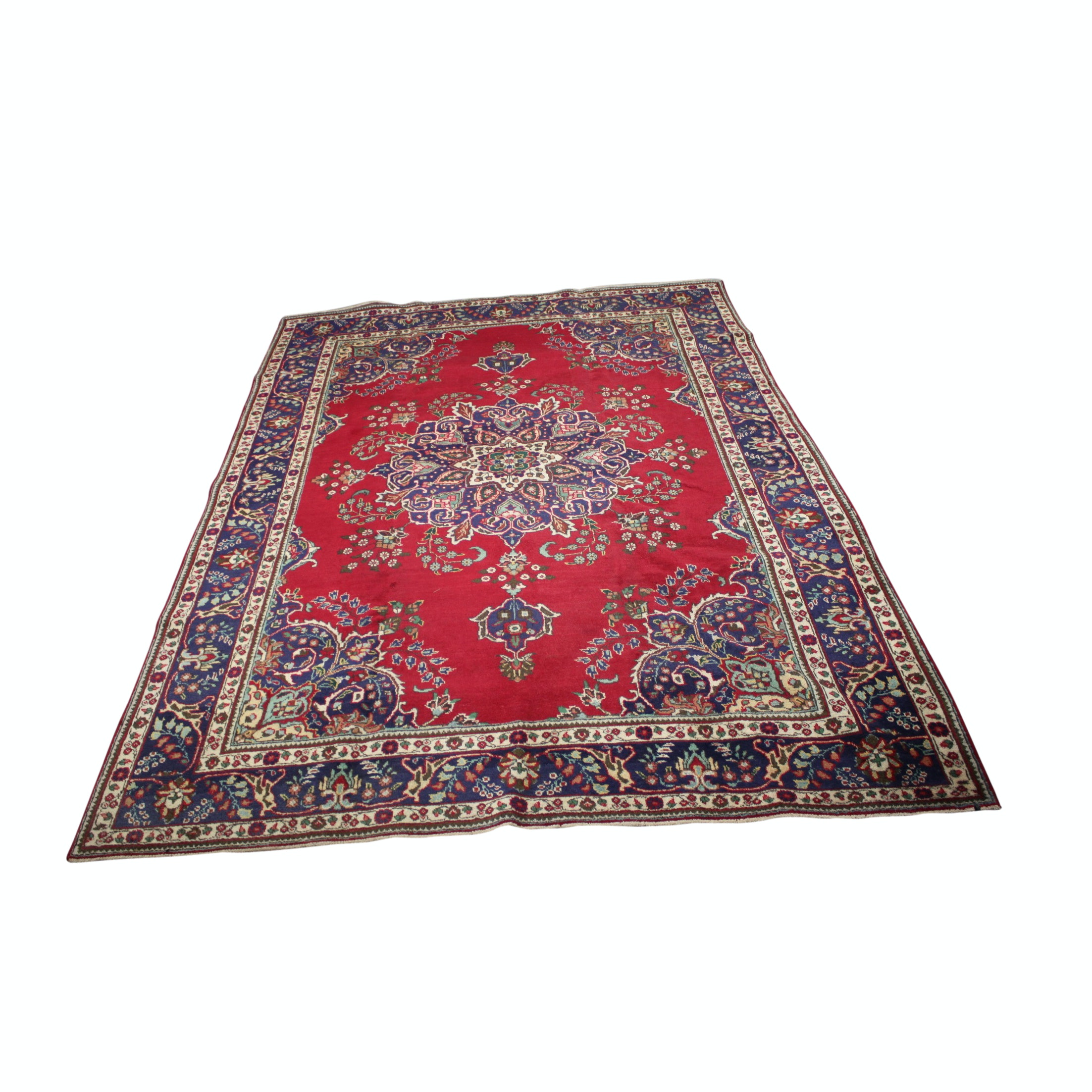 8' x 12' Hand-Knotted Persian Qom Wool Area Rug