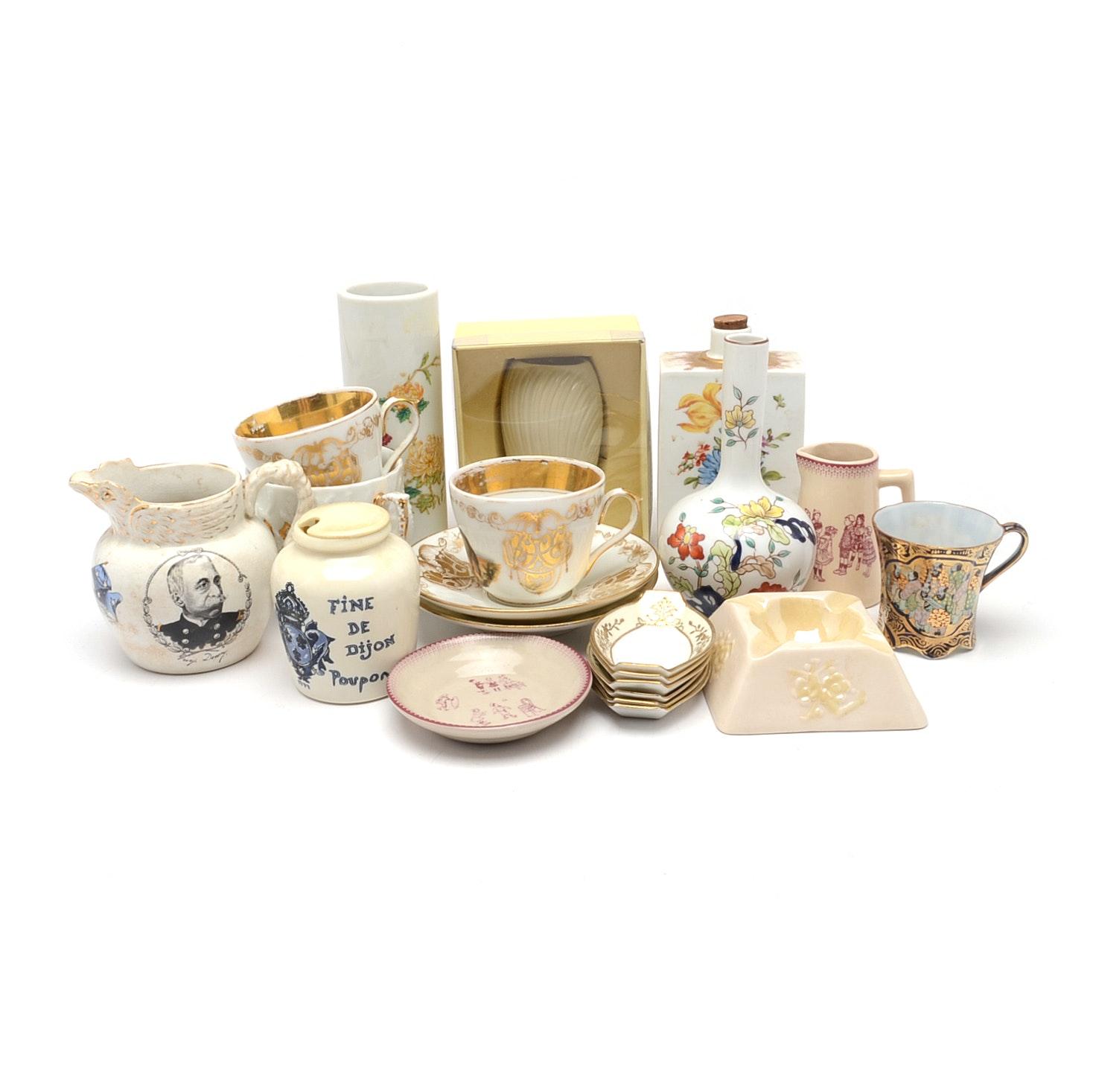 Assorted Vintage and Antique Porcelain Decor