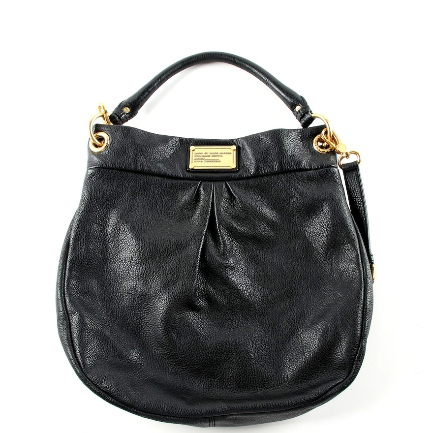 4017ecf4c6b4 Marc by Marc Jacobs Black Leather Hillier Hobo Bag   EBTH