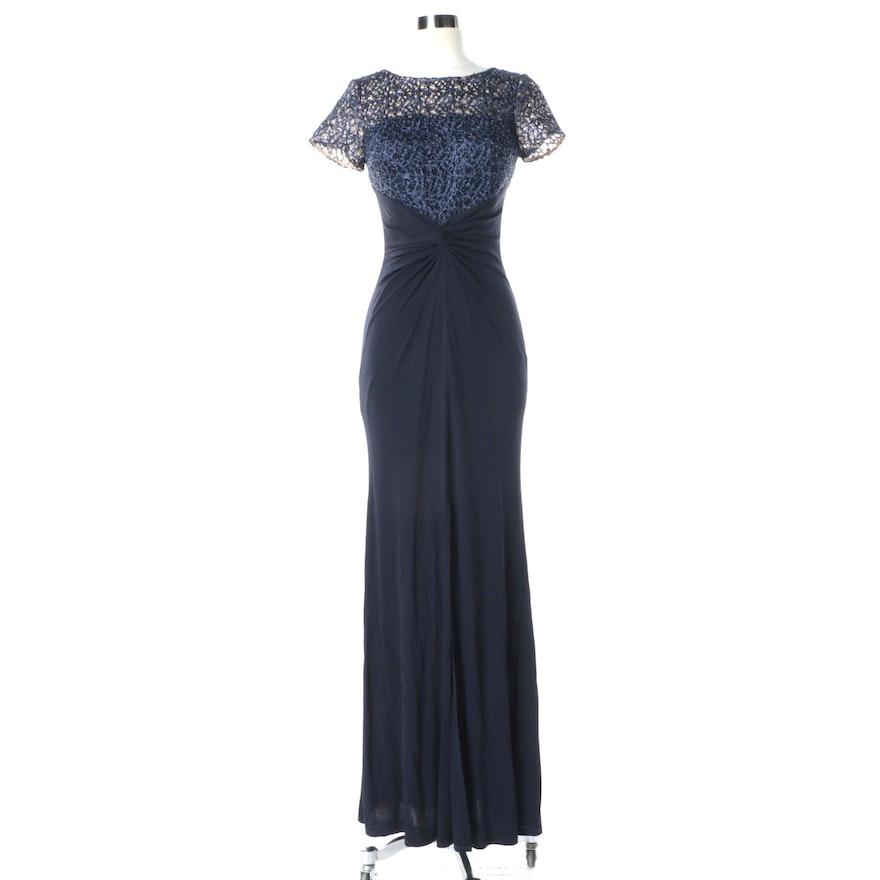 Women\'s David Meister Navy Blue Short Sleeve Gown : EBTH