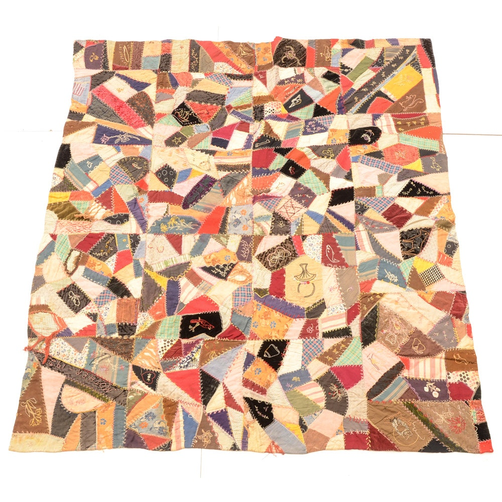 Antique Hand Crafted Mothers Quilt