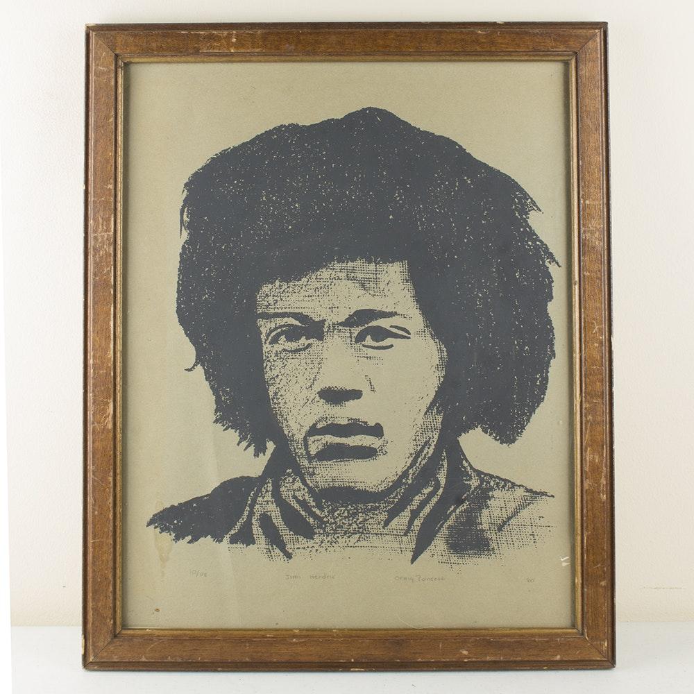 Craig Poinsett Serigraph of Jimi Hendrix