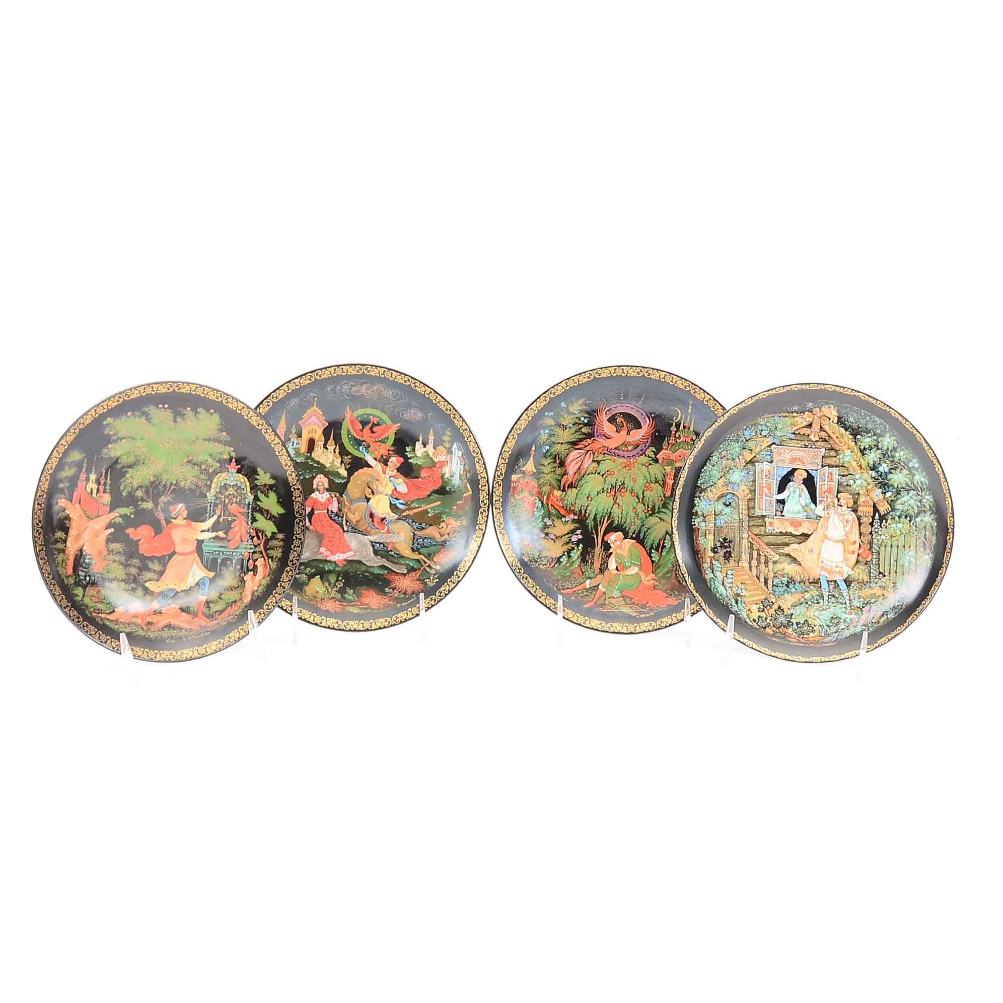 "The Bradford Exchange Hand Painted Decorative 8"" Plates"