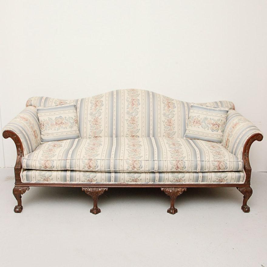 Miraculous Vintage Chippendale Style Camelback Sofa Inzonedesignstudio Interior Chair Design Inzonedesignstudiocom
