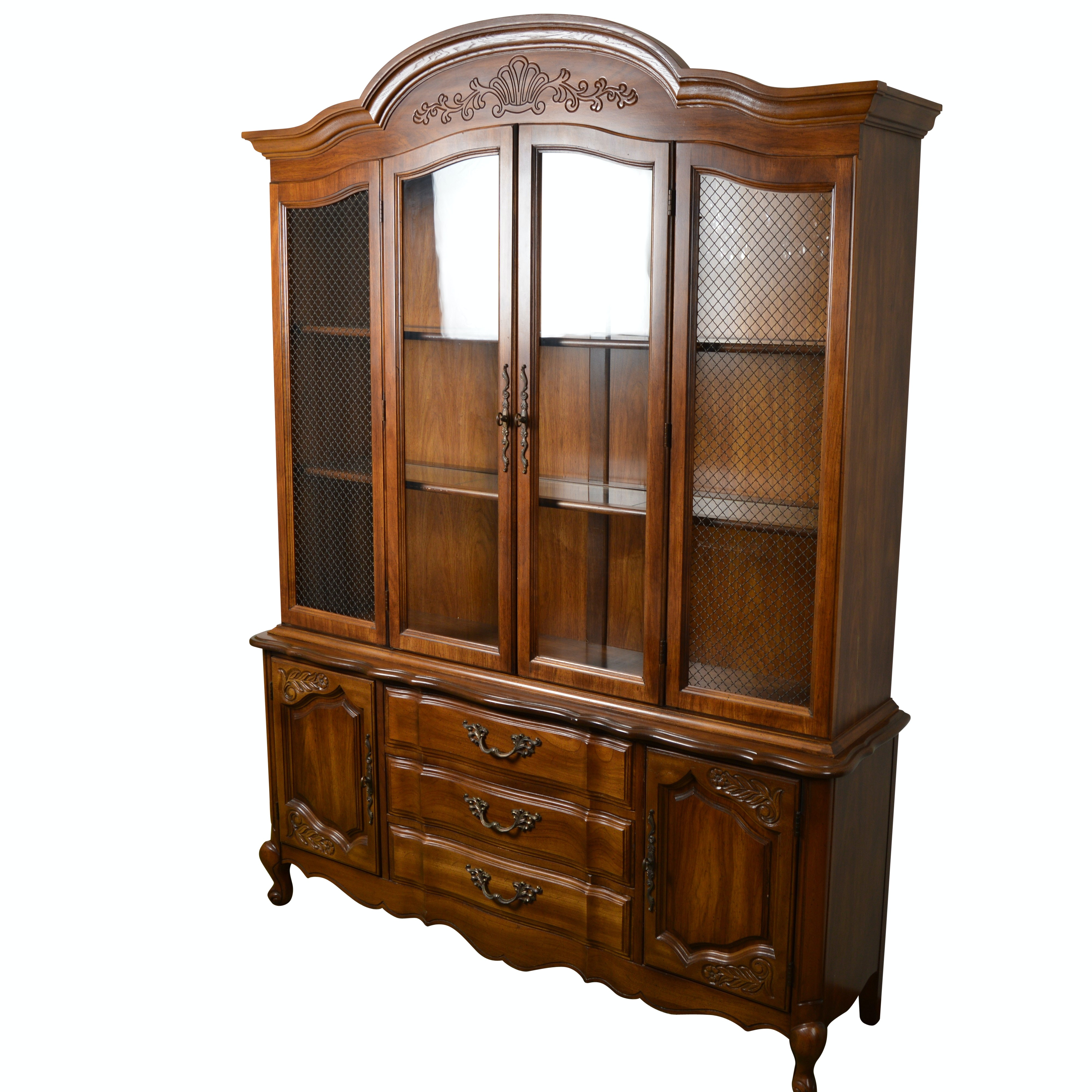 French Country Style China Cabinet by Bernhardt