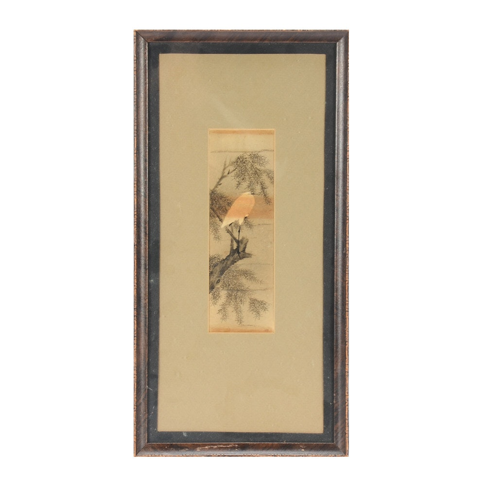 Antique Chinese Ink and Watercolor Painting