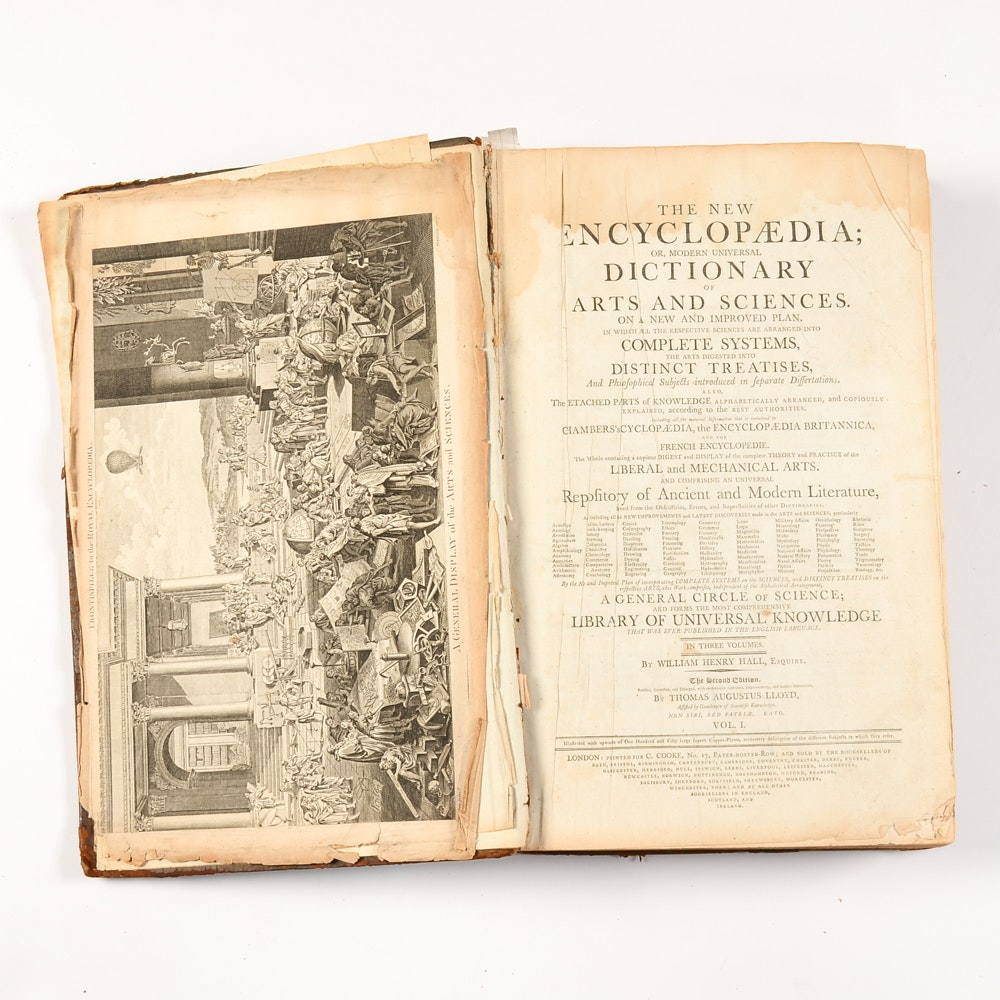"""Antique """"Dictionary of Arts and Sciences"""""""