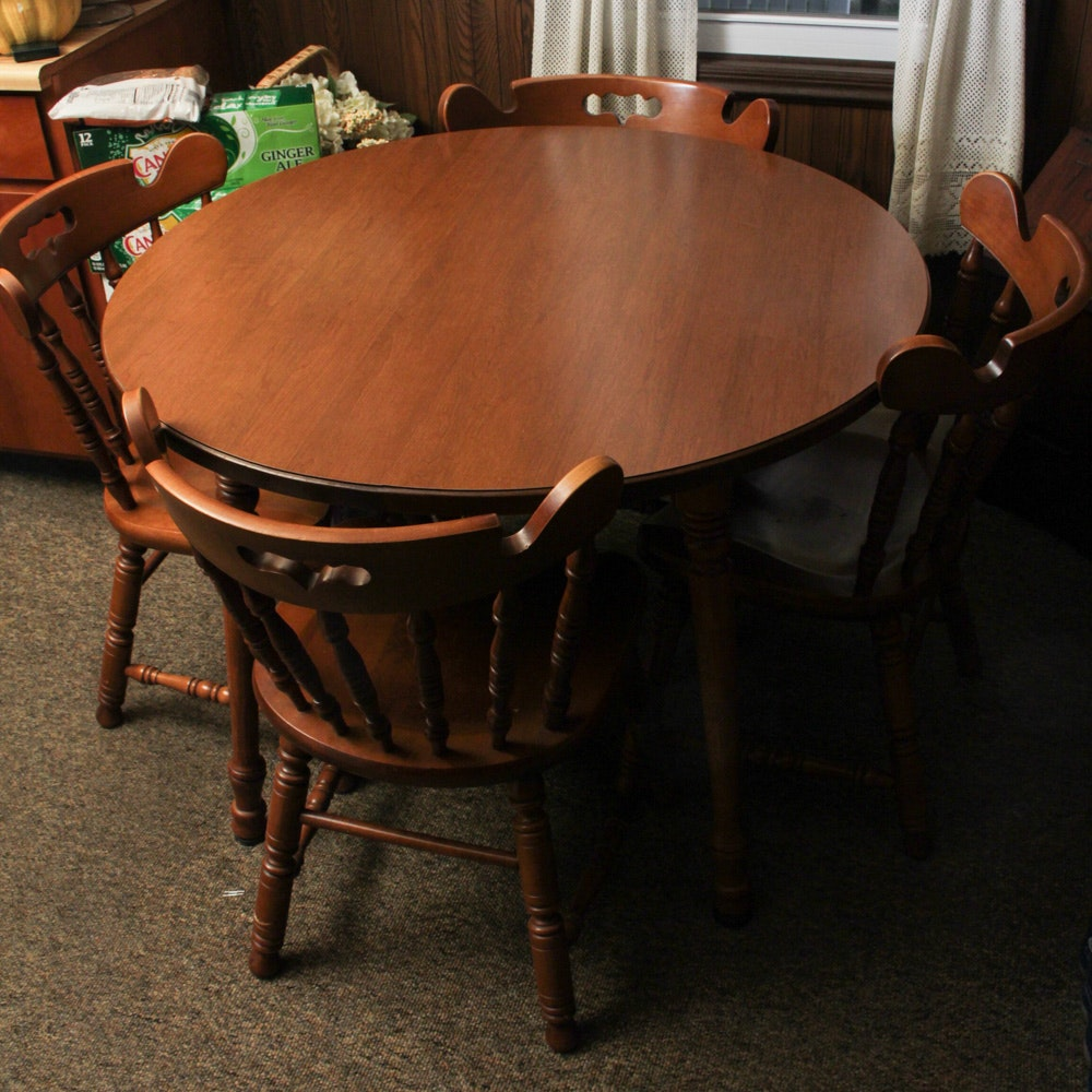 Vintage Dining Table and Four Chairs